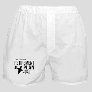 Flying Retirement Plan Boxer Shorts