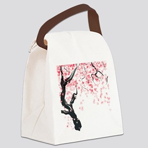 Japanese Cherry Tree Canvas Lunch Bag