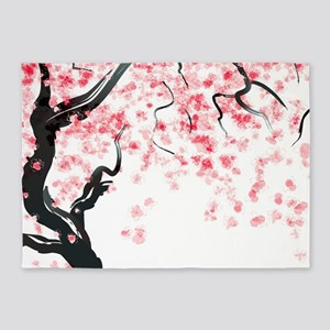 Japanese Cherry Tree 5'x7'Area Rug