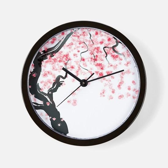 Japanese Cherry Tree Wall Clock