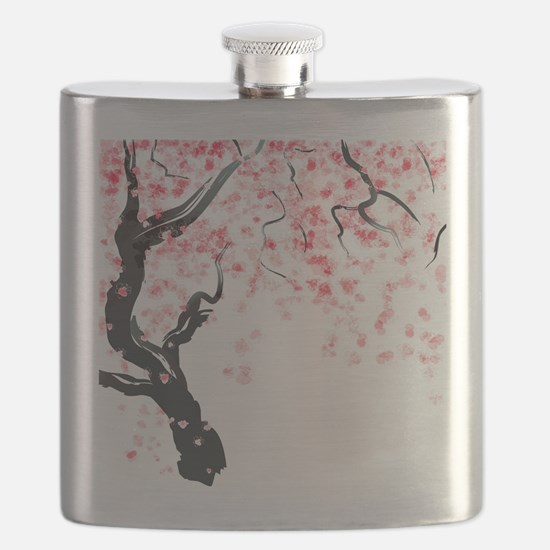 Japanese Cherry Tree Flask