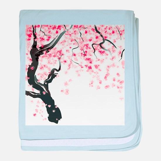 Japanese Cherry Tree baby blanket