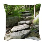 Stepping Stones Woven Throw Pillow