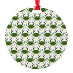 Blue Crab Pattern Ornament