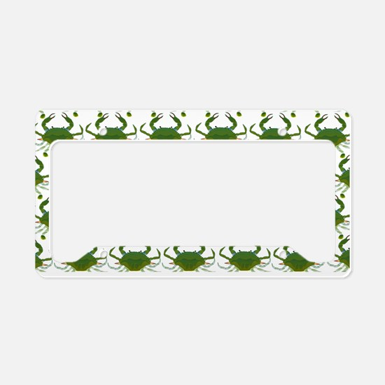 Blue Crab Pattern License Plate Holder