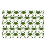 Blue Crab Pattern Postcards (Package of 8)