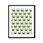 Blue Crab Pattern Framed Panel Print