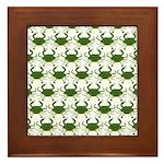 Blue Crab Pattern Framed Tile