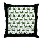 Blue Crab Pattern Throw Pillow