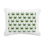 Blue Crab Pattern Rectangular Canvas Pillow