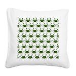 Blue Crab Pattern Square Canvas Pillow
