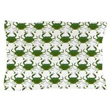 Blue Crab Pattern Pillow Case