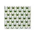 Blue Crab Pattern Throw Blanket
