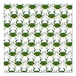 Blue Crab Pattern Square Car Magnet 3