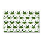 Blue Crab Pattern Car Magnet 20 x 12