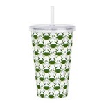 Blue Crab Pattern Acrylic Double-wall Tumbler