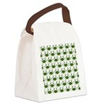 Blue Crab Pattern Canvas Lunch Bag