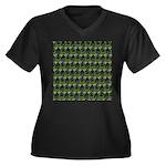 Blue Crab Pattern Plus Size T-Shirt