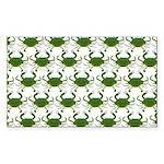 Blue Crab Pattern Sticker