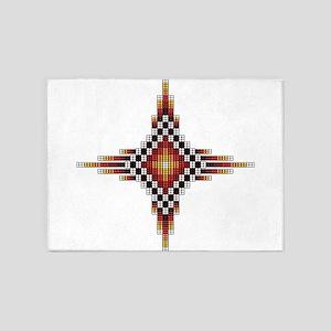 Native Style Hot Radiant Sun 5'x7'Area Rug