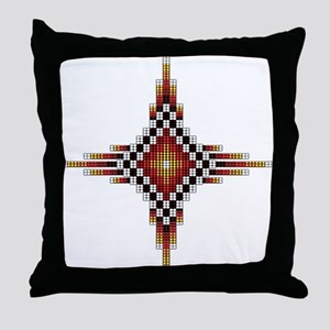 Native Style Hot Radiant Sun Throw Pillow