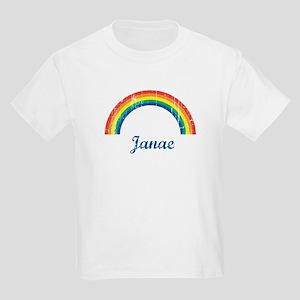 Janae vintage rainbow Kids Light T-Shirt
