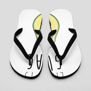 Life is Guac Flip Flops