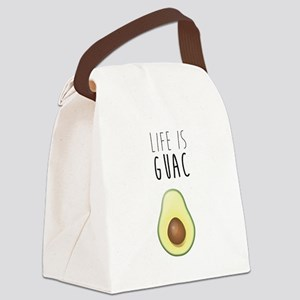 Life is Guac Canvas Lunch Bag