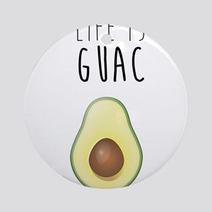 Life is Guac Round Ornament
