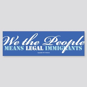 Immigration Bumper Sticker