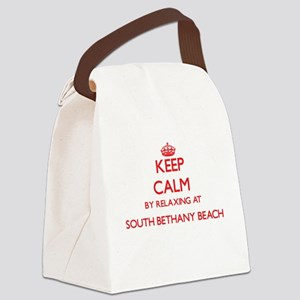 Keep calm by relaxing at South Be Canvas Lunch Bag