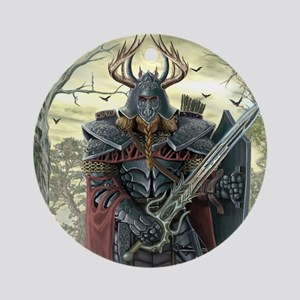 viking warrior Round Ornament