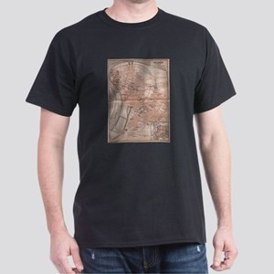 Vintage Map of Belgrade Serbia (1905) T-Shirt