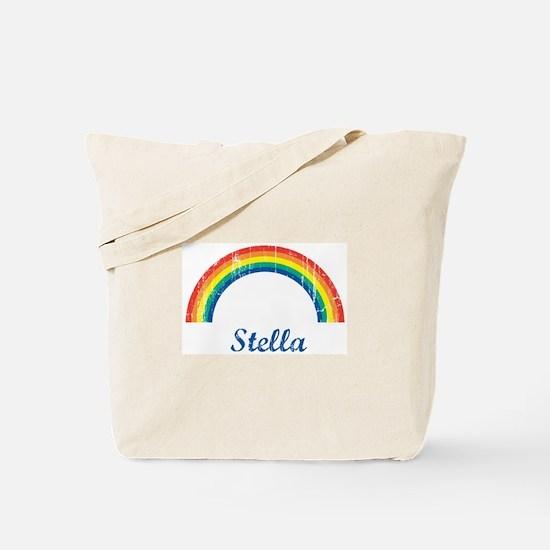 Stella vintage rainbow Tote Bag