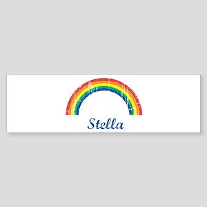 Stella vintage rainbow Bumper Sticker