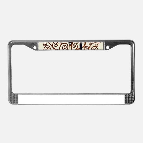 Cute Klimt License Plate Frame