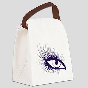 EyeLash Canvas Lunch Bag