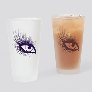 EyeLash Drinking Glass