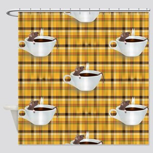 coffee rats Shower Curtain