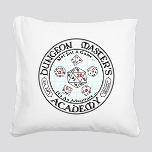 Dungeon Master's Academy Square Canvas Pillow