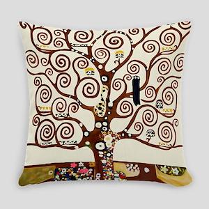 Klimt tree of life Everyday Pillow