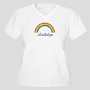 Madalyn vintage rainbow Women's Plus Size V-Neck T