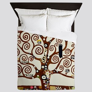 Klimt tree of life Queen Duvet