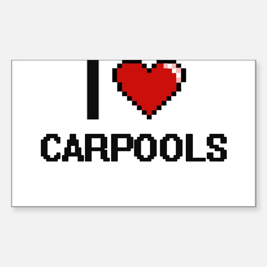 I love Carpools digital design Decal