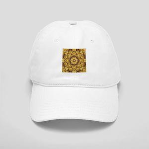 rustic lotus flower mandala Cap