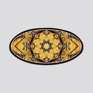 Yellow rustic floral morocco Patch