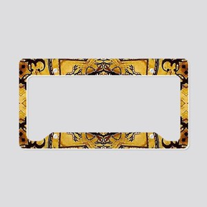 Yellow rustic floral morocco License Plate Holder