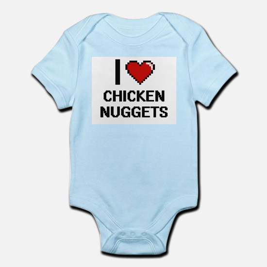 I love Chicken Nuggets digital design Body Suit