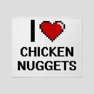 I love Chicken Nuggets digital desig Throw Blanket