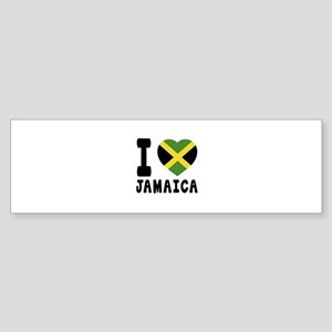I Love Jamaica Sticker (Bumper)